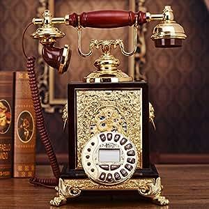 El nuevo estilo europeo madera antiguos teléfonos americanos de lujo creativo plano retro regalos hogar
