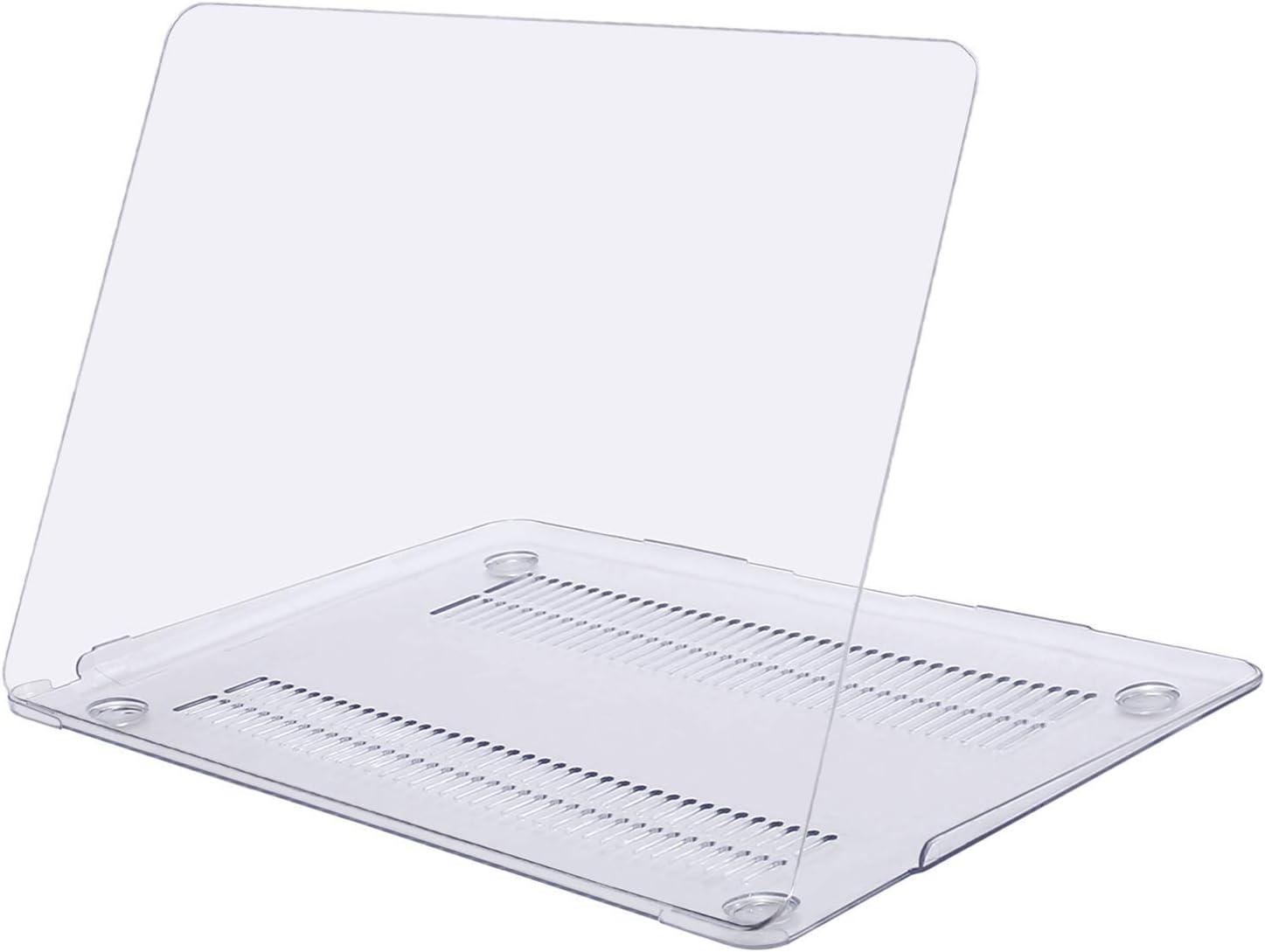 MOSISO Funda Dura Compatible con 2020-2018 MacBook Air 13 Pulgadas A2337 M1 A2179 A1932 con Pantalla Retina & Touch ID,Ultra Delgado Carcasa Rígida Protector de Plástico Cubierta,Cristal