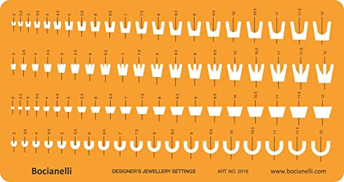 Jewellery Settings Shapes Symbols Drawing Drafting Template Stencil - Jewelry Art Craft Design