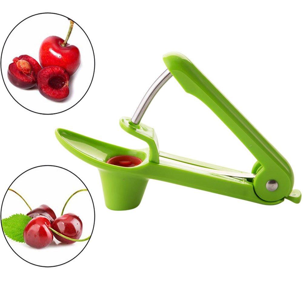 SameTech Easy Kitchen Tool Cherry Pitter Olive Stoner Corer Seed Remover Pitter01