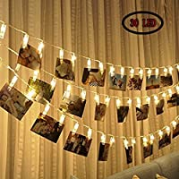 LED Photo Clip String Lights 30 Photo Clips, Perfect for Hanging Photos ,Pictures, Notes,Paintings Card and Memos- 3.3 Meter/10.8 Feet - 3 AA Batte