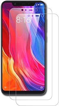 AICEK [2-Pack Protector de Pantalla Xiaomi Mi 8, Cristal Templado ...