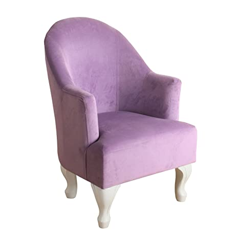 Accent Chair With Solid Wood White Painted Queen Anne Style Legs And  Graceful High Curved Back