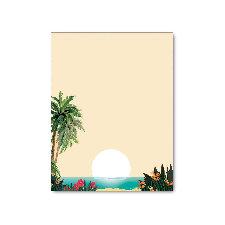 100 Sheets Desktop Publishing Supplies Inc. Island Paradise Stationery Paper