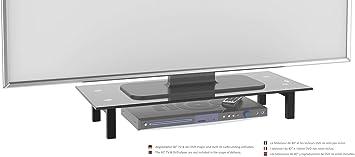 RICOO Soporte de Base para TV y Monitor FS6028-B Mueble Mesa de ...