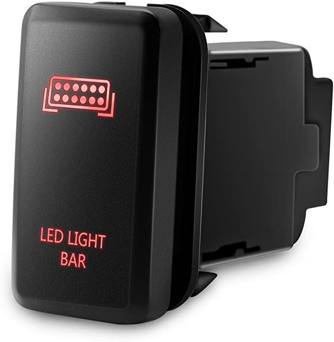 Amazon.com: MICTUNING Backlit LED LIGHT BAR Symbol Push Button with Wiring  Kit ON-OFF Switch Compatible with Toyota (Red, Surface Size 1.54 x 0.83  inches): AutomotiveAmazon.com