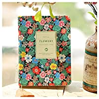 2017 NEWEST Cute PU Leather Floral Flower Schedule Book Diary Planner Notebook Best For Daily Weekly Monthly Planning Stationery Notebook