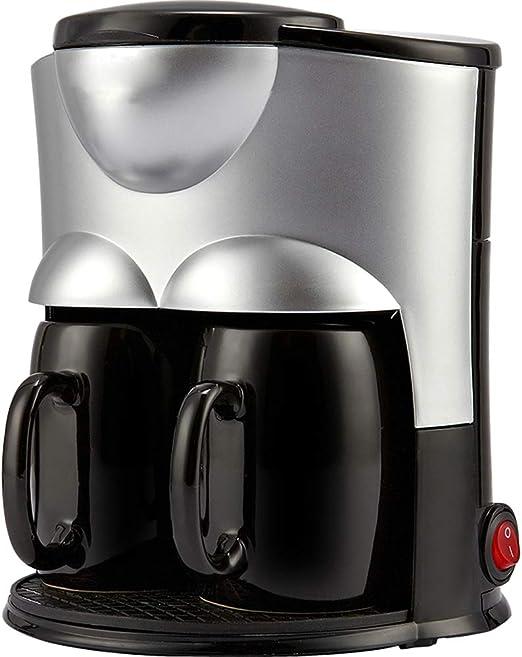 Máquinas de café mini pequeño hogar goteo recién hecho Aicok fabricantes de filtro de café té completamente automática Cocina anti-goteo Sistema de 300W 0,15 L,Negro: Amazon.es: Hogar