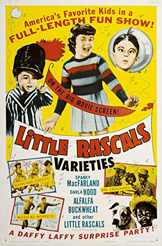 Little Rascals Varieties 1959 Authentic Original Movie Poster Near Mint Scotty Beckett Musical U.S.