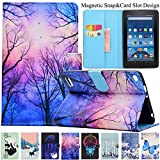 Kindle Fire HD 7 2015 Case,Artyond PU Leather [Card Slot] Smart Magnetic Cover Soft TPU Interior Protective Case for Amazon Kindle Fire HD7 5th Generation,2015 Release (Twilight)