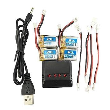 Ersatzakku 5pcs 3.7V 150mah Lithium Batterie Akku mit 5 in 1 Ladegeräte