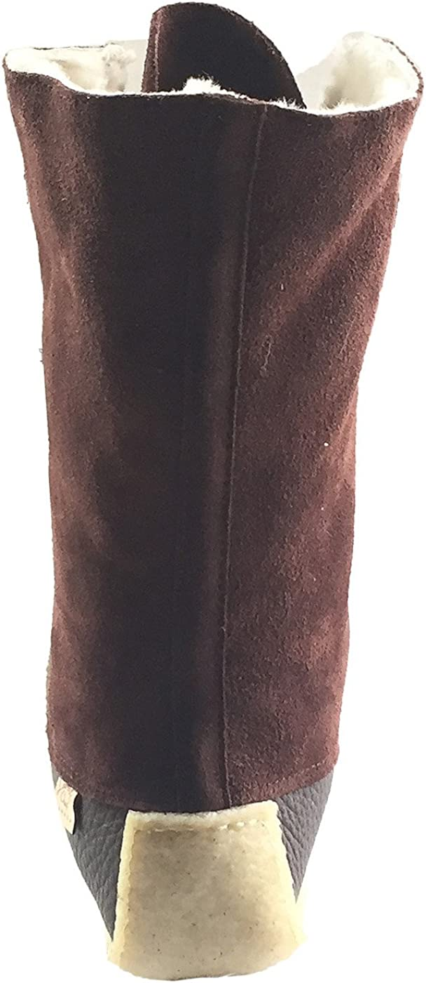 Laurentian Chief Mens Moccasin Boots Sheepskin Lined 13 Snowshoe Mukluks