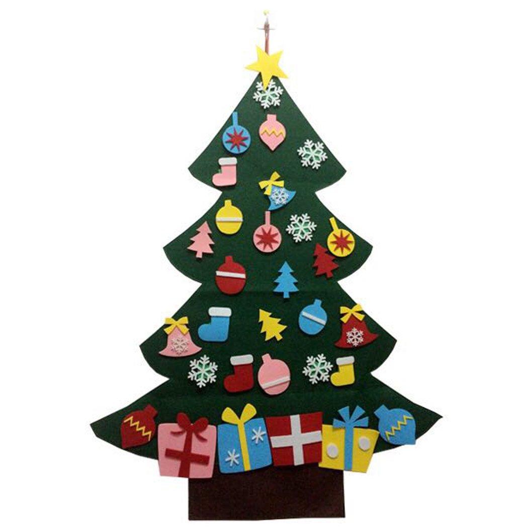 bangcool Christmas Tree Toy, Kids Toy DIY Felt Christmas Tree Wall Decor with Hanging Rope