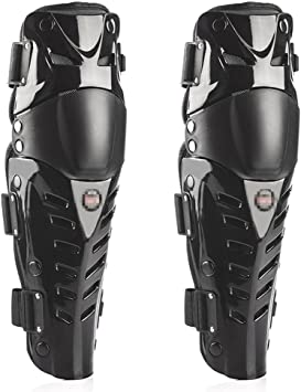 Black/&Red Shin Armor Protective Pads Accessories with Plastic Cement Hook for Motorcycle 1 Pair of Adults Knee Guards