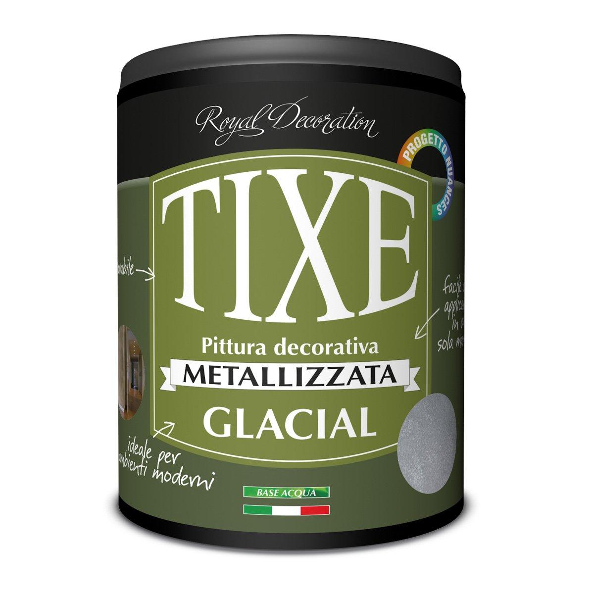 Tixe 623802 Glacial Finitura Decorativa Effetto Metallizzato, Vernice, Oro, 10 X 10 X 20 Cm
