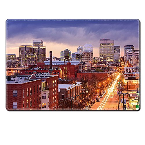 Mouse Pad Unique Custom Printed Mousepad United States Richmond Virginia Highway Office Buildings Downtown At Dusk Urban Lifestyle Multicolor Stitched Edge Non Slip (Virginia State Duck)