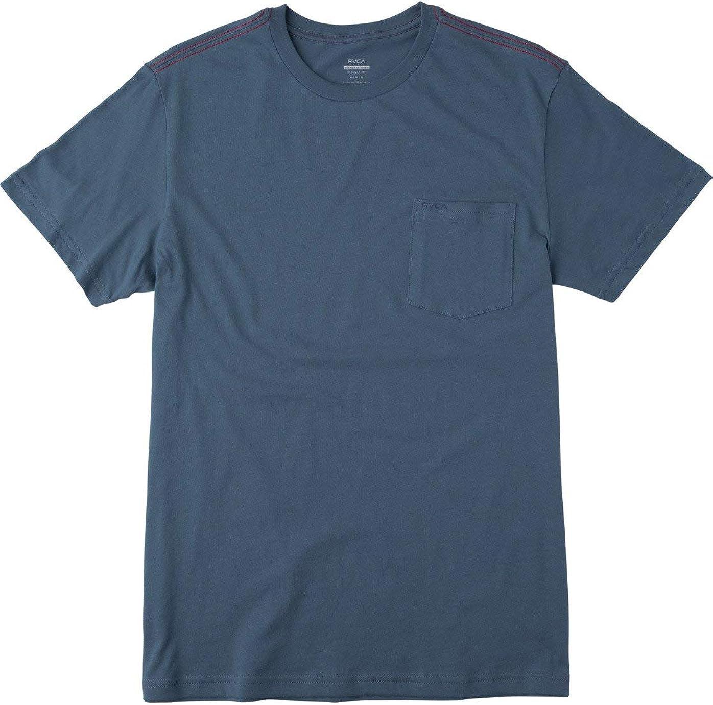 RVCA Men's PTC Standard Wash Short Sleeve Crew Neck Pocket T-Shirt: Clothing