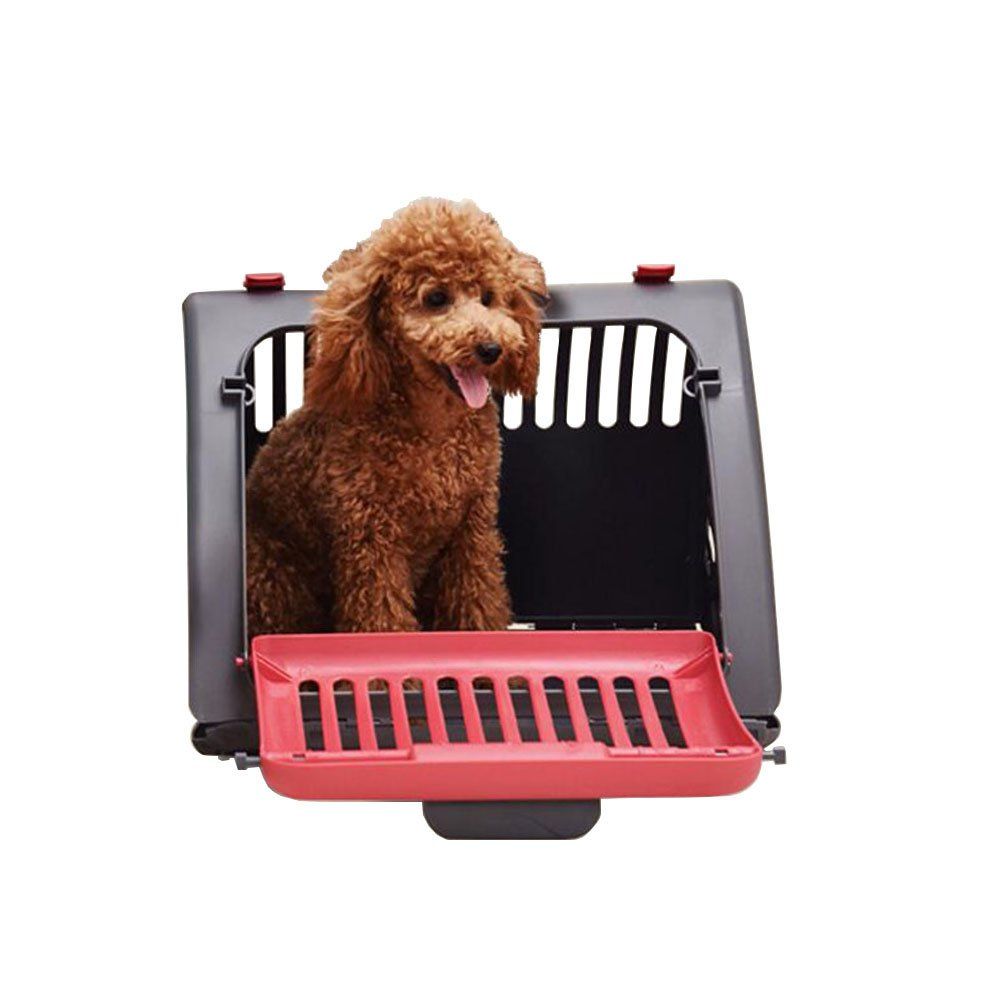 Pet Cat Dog Travel Carrier Indoor/Outdoor Foldable and Portable House Perfect for Under 26lbs Pet Animals (red)