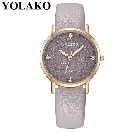 Relojes Pulsera Mujer BBestseller Reloj niña Reloj de Brazalete de Diamantes de señoras Moda para Estudiantes Reloj Deportivo (Gris): Amazon.es: Relojes