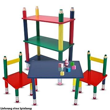 Etc Shop Kinder Möbel Set Tisch Gruppe Stühle Massiv Holz Bunt