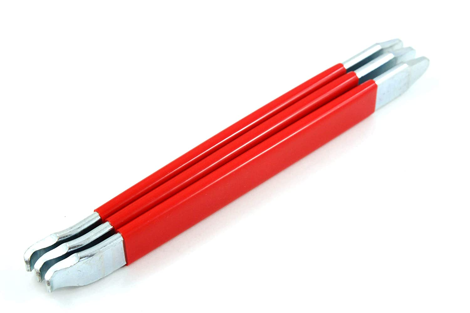 Red Hound Auto Three Pack Motorcycle Bicycle Scooter Dirt Bike Tire Spoon Iron Changing Tool 8 1//2 Heavy Steel New Pry Bar Kit