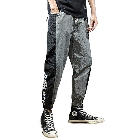 f69ae7a3a4 Amazon.com: Men Plus Size Pants Casual Loose Comfort Elastic Waist ...