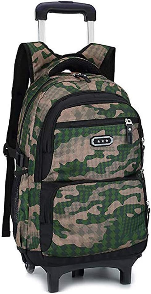 Camouflage Medium Color : Style B, Size : 2 Rounds YEXIN Luggage 18 Inch Rolling Backpack
