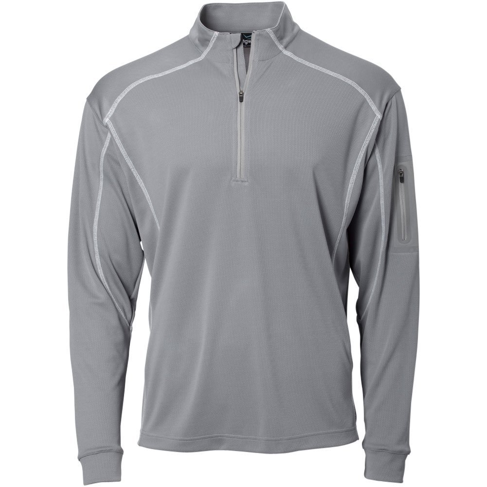 TGW Mens Tour 1/4 Zip Pullover Grey S