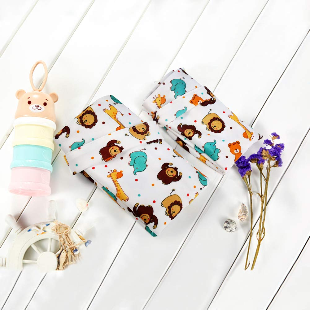 Ballery Wet Dry Cloth Diaper Bags Daycare Beige Beach Nappy Wet Bag Baby Waterproof Zipper Bag Washable Infant Storage Bags Reusable Baby Pouches Hanging Nappy Organizer for Travel