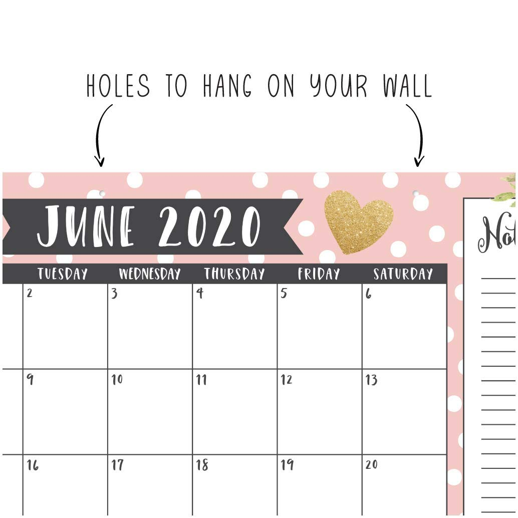 Amazon.com: Calendario de pared o escritorio grande 2019 ...