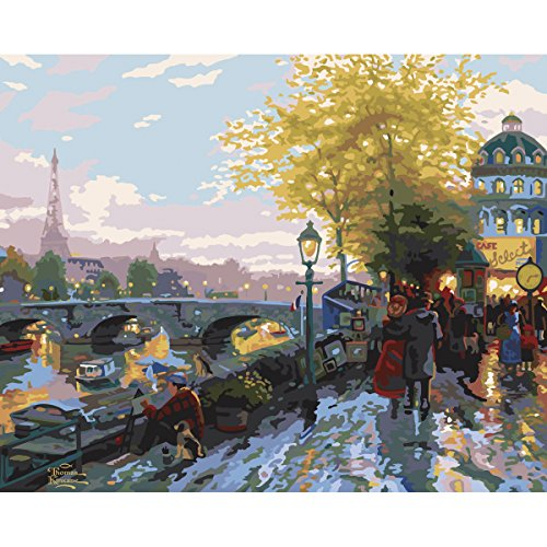 Plaid Creates Paint by Number Kit (16 by 20-Inch), 31644 Paris, Eiffel Tower by Thomas Kinkade