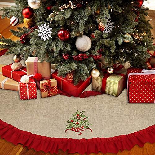 Linen Christmas Tree Skirt: Amazon.com: F.G.Y Christmas Tree Skirt 53 Inch, Large