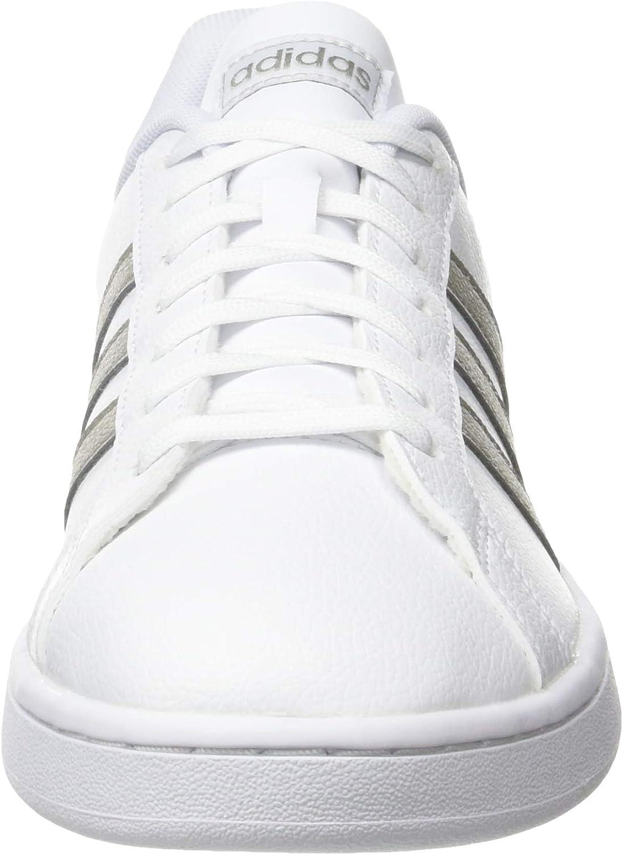 adidas Damen Grand Court Sneaker Cloud White Platin Metallic Cloud White