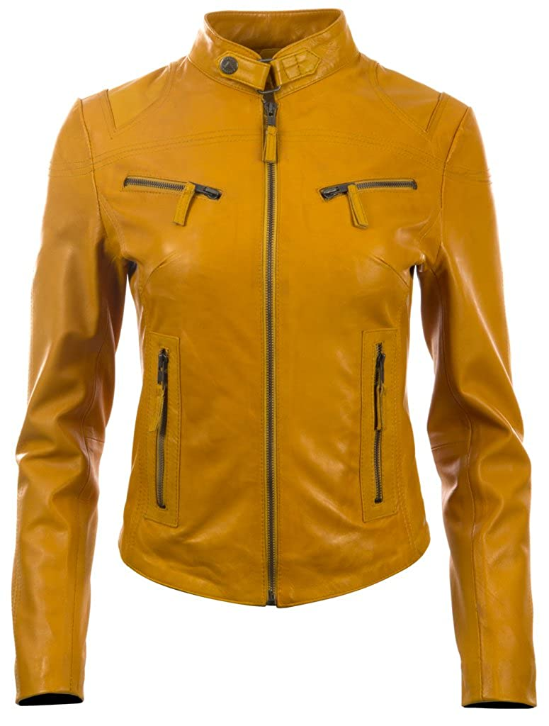 Aviatrix Women's Super-Soft Real Leather Fitted Fashion Jacket (CRD9)