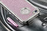 Deluxe Pink Chrome Bling Crystal Rhinestone Hard Case Skin Cover for Apple iPhone 4 4S 4G With 2 Pcs Screen Protector and Pink Stylus