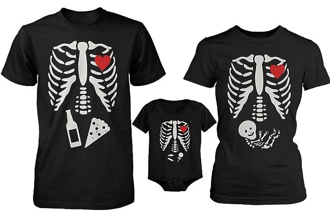 love Camiseta Divertida de Halloween X-Ray y Camisetas de la Familia Onesie para Papá