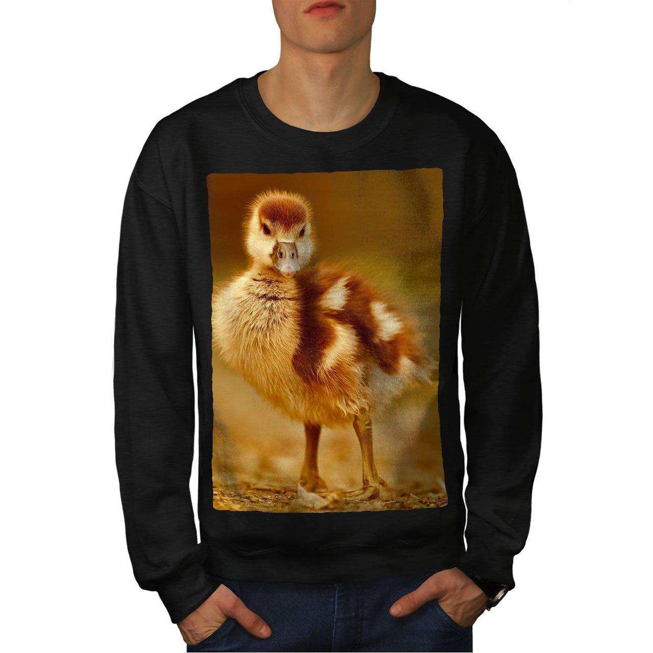 Farm Casual Jumper wellcoda Duck Cute Photo Animal Mens Sweatshirt