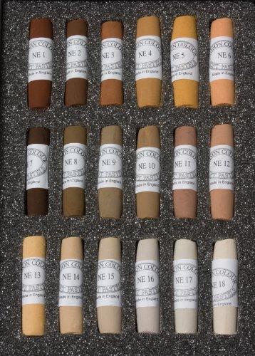 Jack Richeson Unison Pastel Natural Earth Colors, Set of 18
