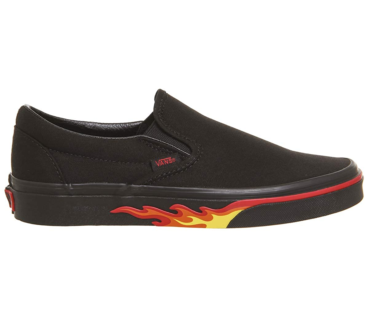 [バンズ] スニーカー Women's AUTHENTIC (Pig Suede) VN0A38EMU5O レディース B07G3KLKKG Flame Wall Black Black 9 M US 9 M US|Flame Wall Black Black