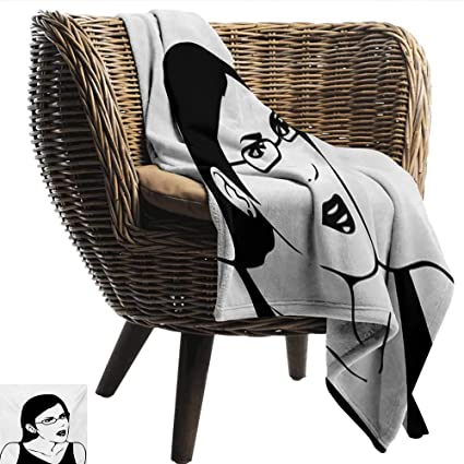 Amazon Com Anshesix Travel Throwing Blanket Humor Girl Woman Face