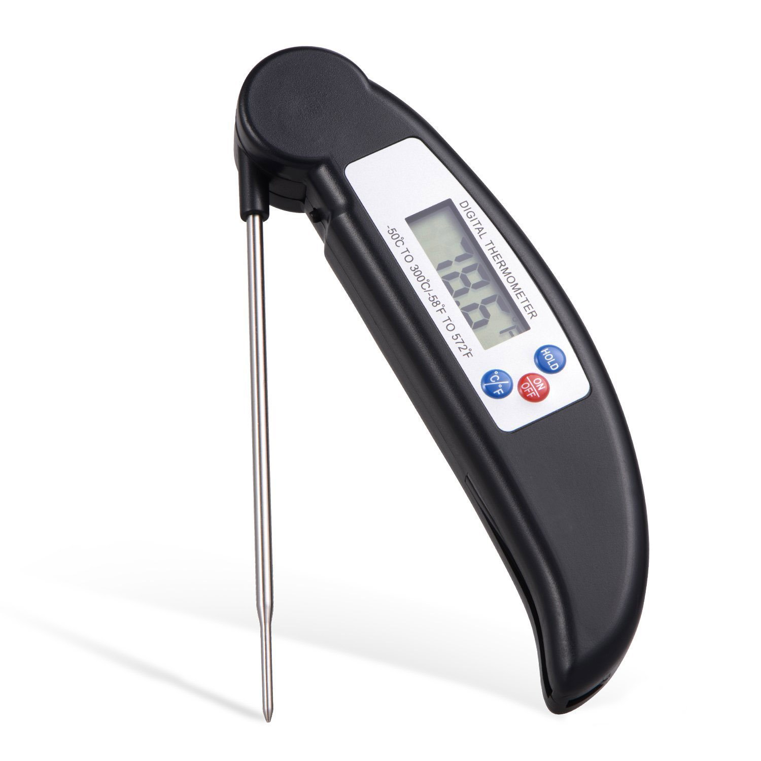 Instant Read Cooking Meat Thermometer - Super Fast Digital Electronic Kitchen Food Thermometer With Collapsible Internal Probe For Grill Cooking BBQ Oven Smoker Meat Kitchen Candy and Bath Water