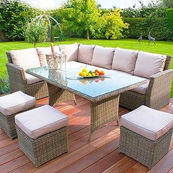Al aire libre muebles de jardín de ratán Maze Winchester Kingston ...