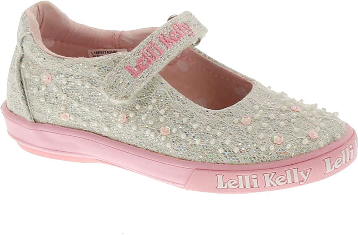 Lelli Kelly Girls Flat Ballet Pumps Kids Glitter Soft Party Shoes Gift Age Size