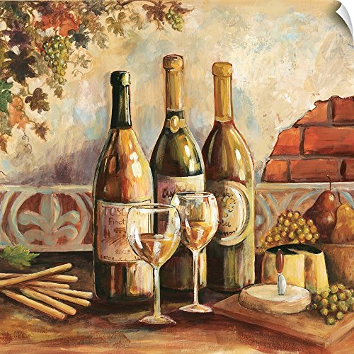Canvas on Demand Gregory Gorham Wall Peel Wall Art Print entitled Bountiful Wine Sq I 30