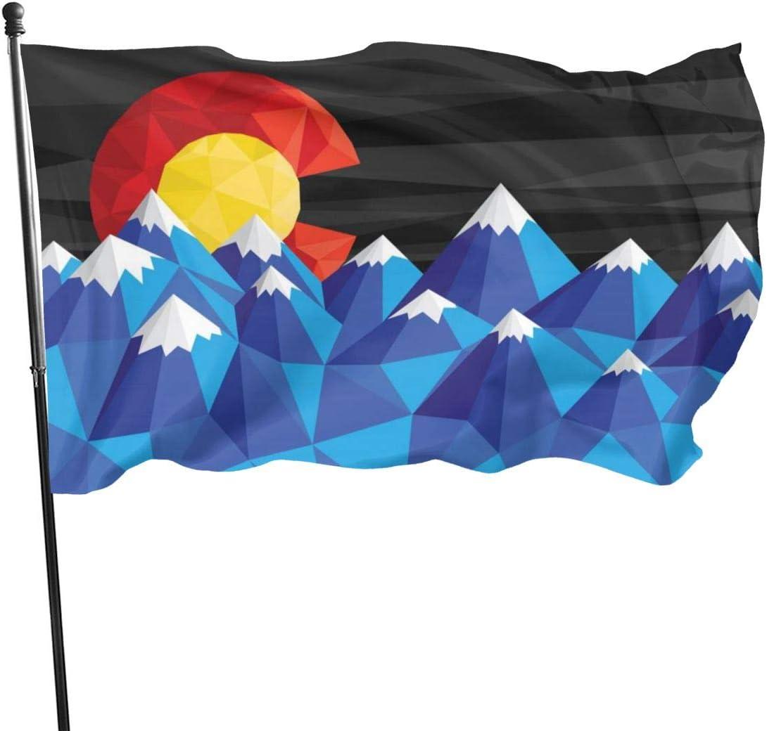 EKOFECK Colorado Flag Mountain Flags 3x5 Feet Banner Patio Lawn & Garden Outdoor Decoration Flags 90x150CM