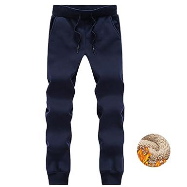 d26f851f Meetloveyou Faux Fur Casual Thick Cotton Track Pants Winter Autumn Warm  Velvet Trousers Slim Pants Windstopper