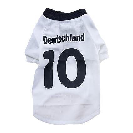 GR Camiseta del fútbol del Animal doméstico del balompié de la Camiseta del fútbol del suéter
