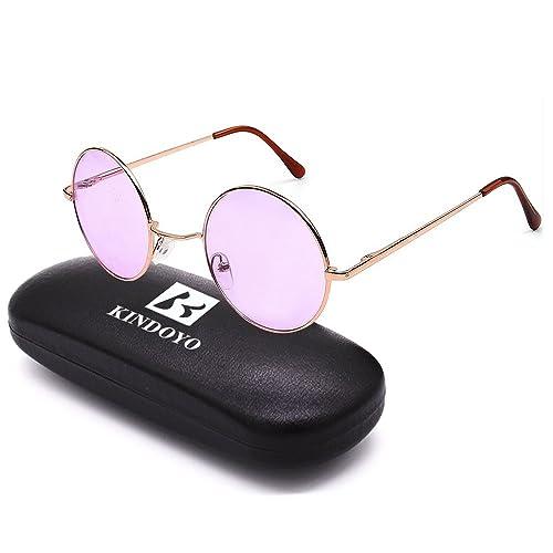 BOZEVON Retro Gafas de sol Cyber Gafas Steampunk Punk Calidad UV400 para Hombres Mujer