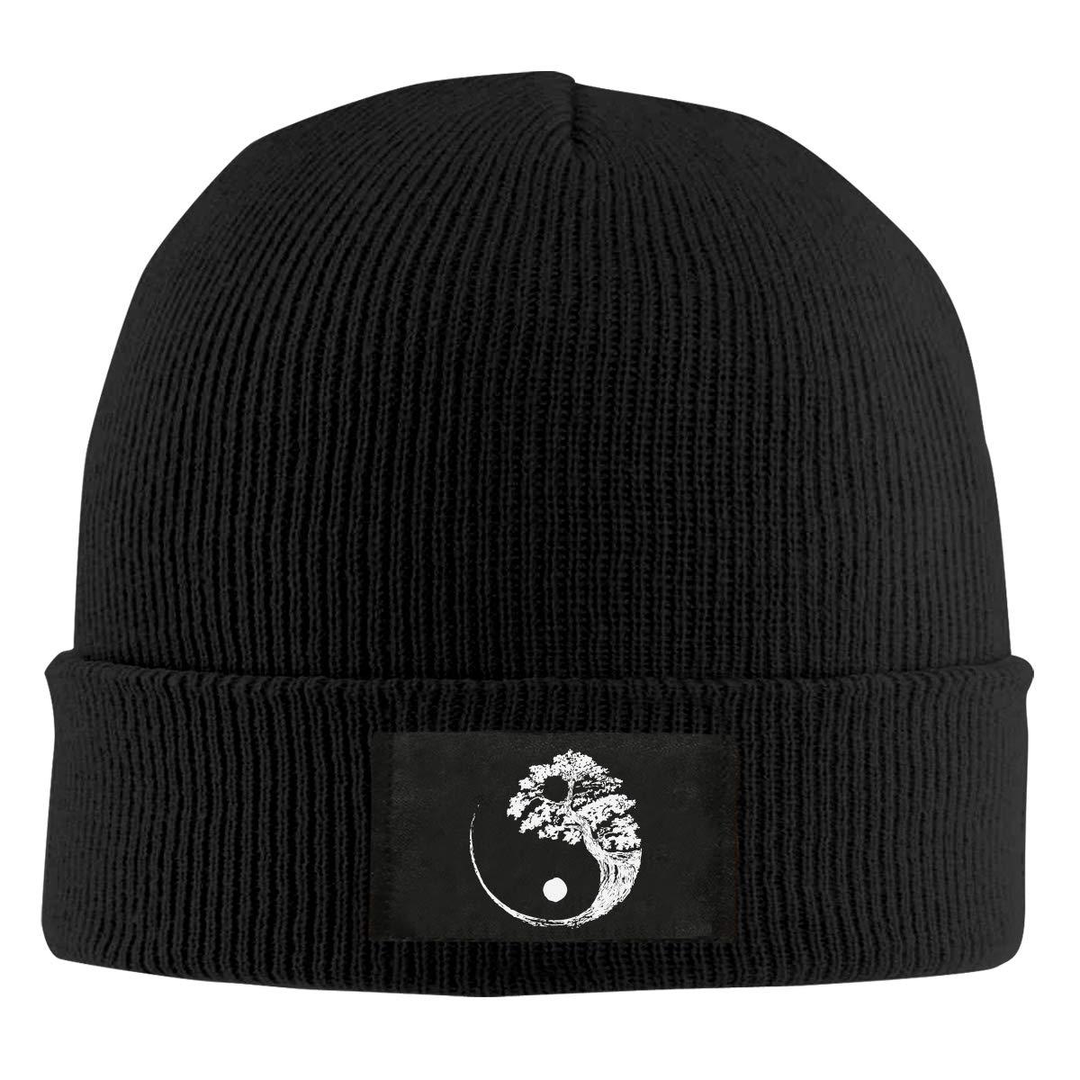 Yin Yang Bonsai Tree Men /& Womens Knitted Hat Fashion Warm Snowboarding Hat