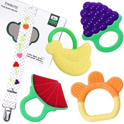 Tinabless - Mordedor de bebé de silicona con diseño de ...